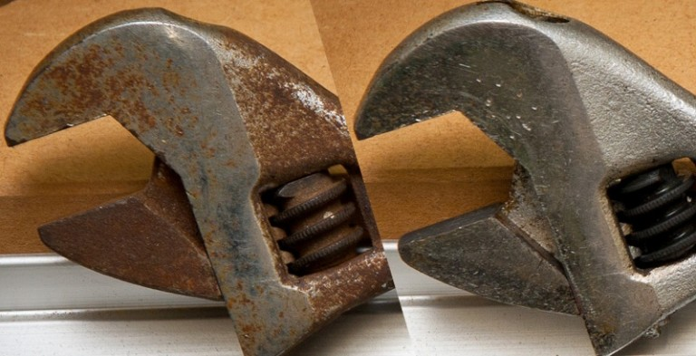 How to clean rust from pipes, tools, ceramics and enamels