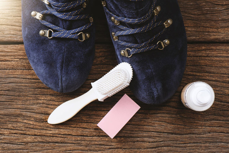 How To Easily Clean Suede Shoes Using An Eraser