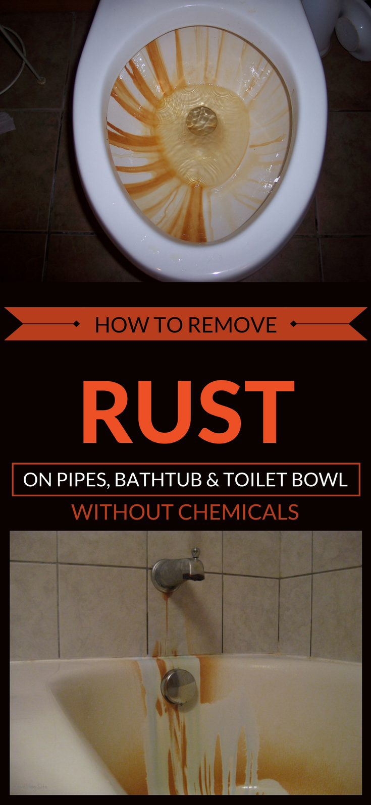 How To Remove Rust On Pipes Bathtub And Toilet Bowl
