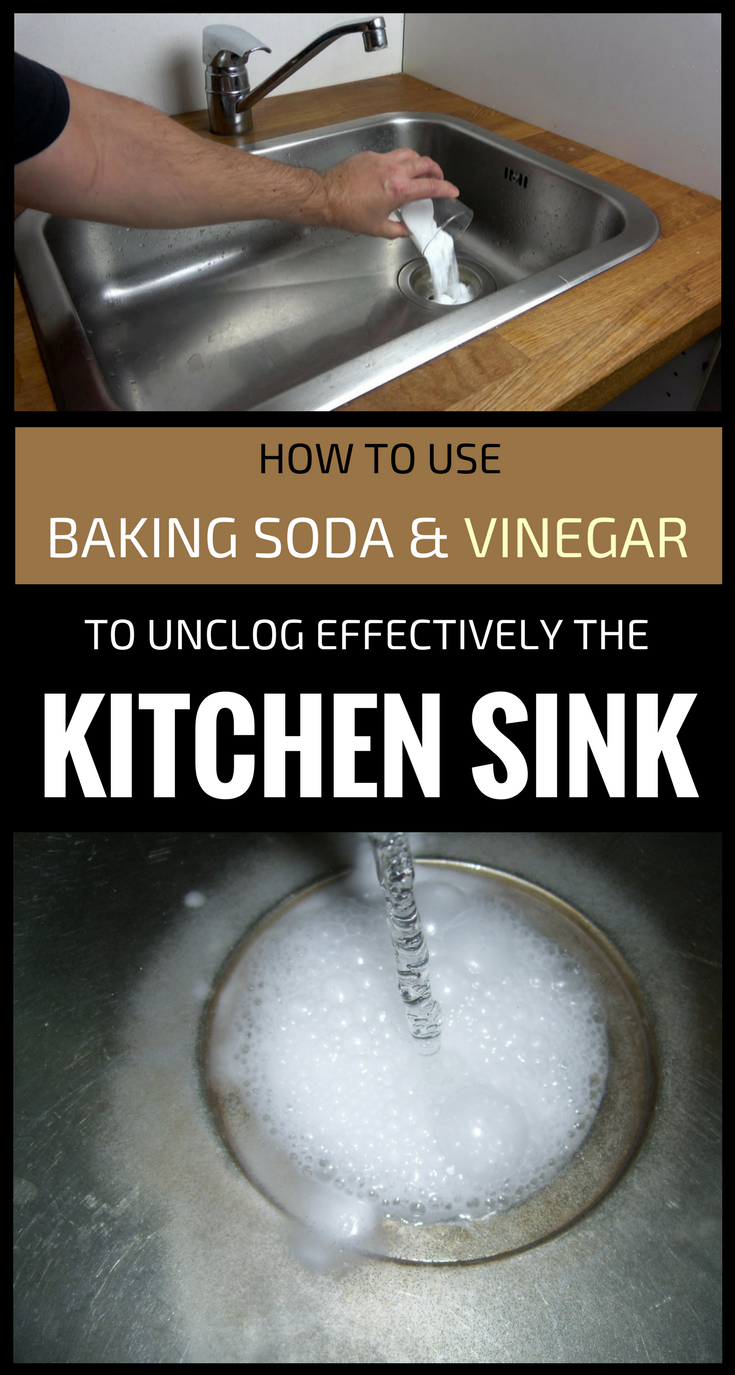 Baking Soda Vinegar Clogged Kitchen Sink