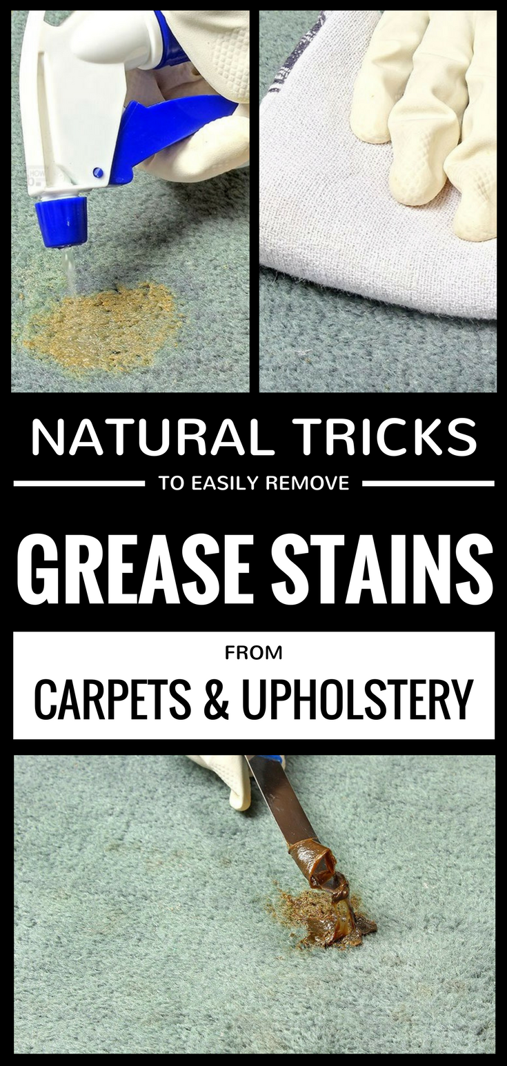 Natural Tricks To Easily Remove Grease Stains From Carpets