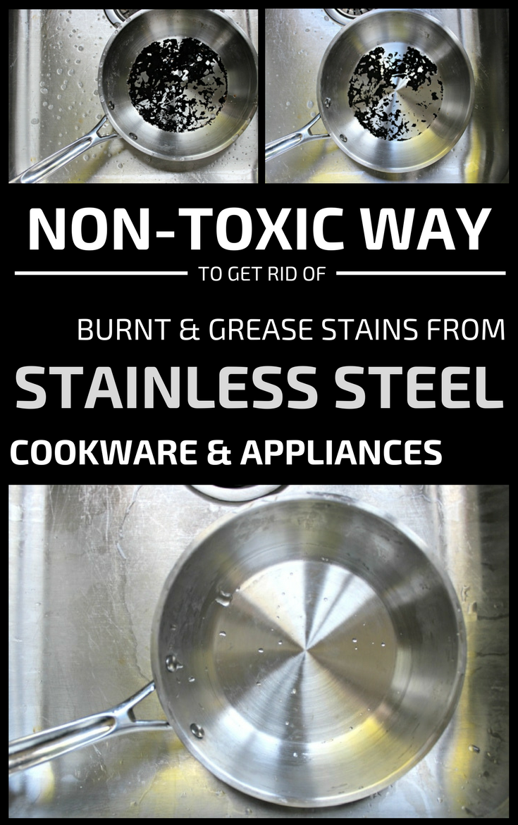 Non Toxic Way To Get Rid Of Burnt And Grease Stains From