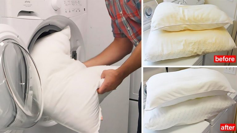 How To Clean Correctly Washable And Non-Washable Pillows