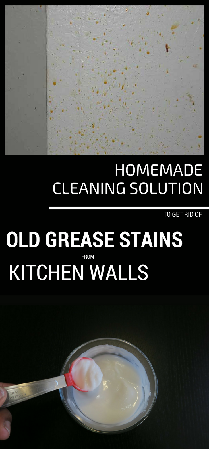 Homemade Cleaning Solution To Get Rid Of Old Grease Stains