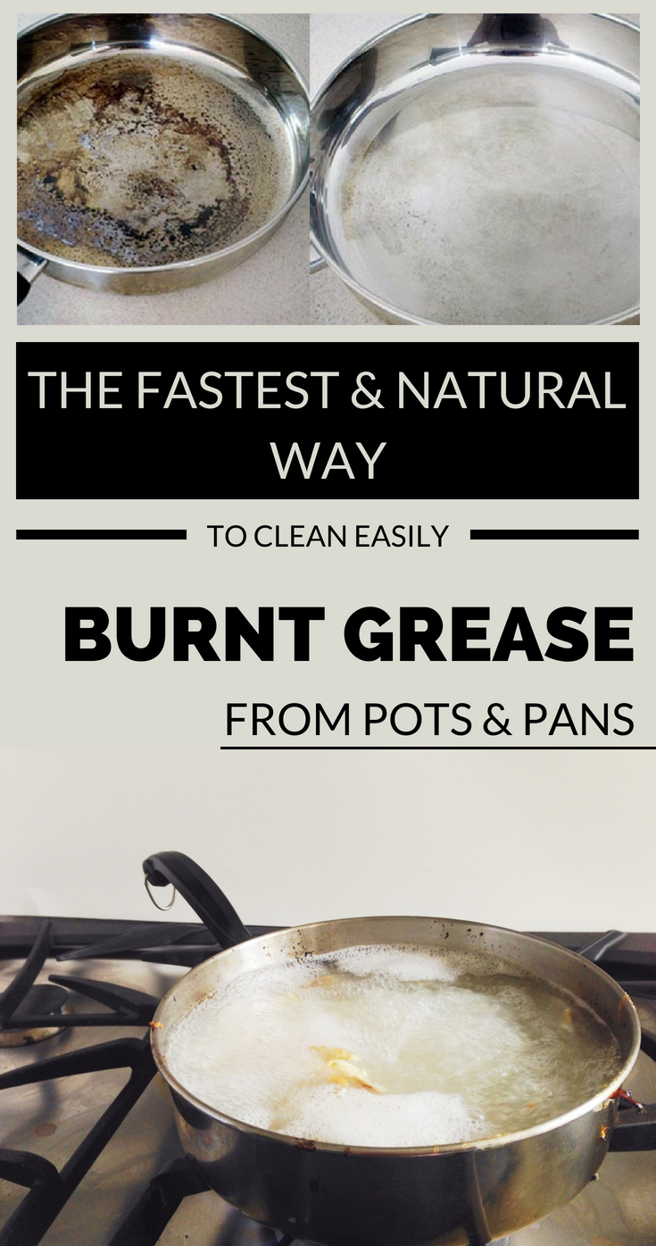 The Fastest And Natural Way To Clean Easily Burnt Grease